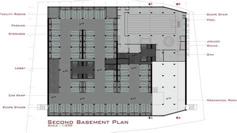 basement plan gallery of yademan tower architecture atelier 5