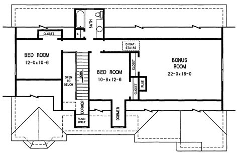 2nd floor plans the davis 3683 3 bedrooms and 2 baths the house designers