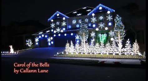 amazing christmas light show carol of the bells