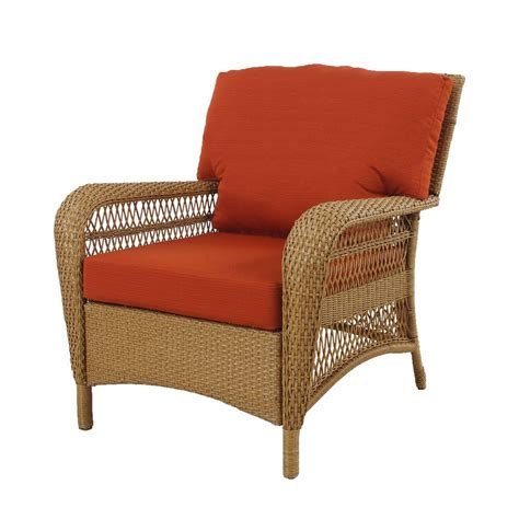 Home Depot Patio Chair Cushions Msl Charlottetown Patio Chair In With Quarry Cushions The Home Depot Canada