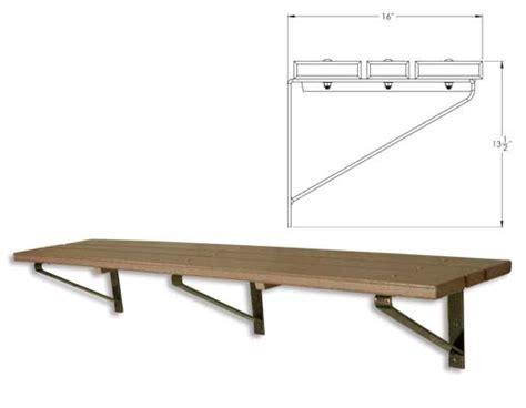 wall mounted bench