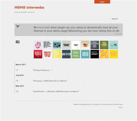 thetalkingfowl a free minimalist html5 wordpress theme
