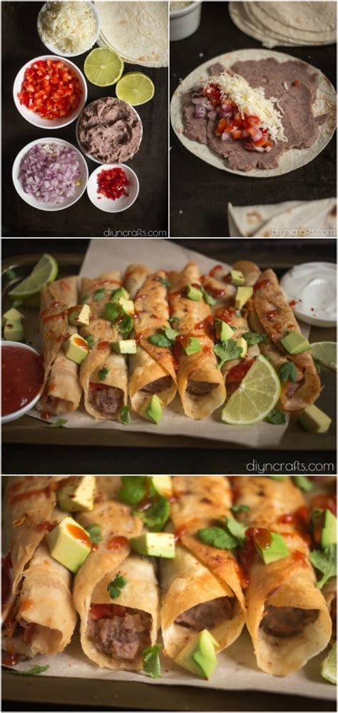 quick delicious appetizers black bean flautas this simple appetizer is easy and delicious diy crafts