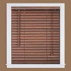 mini blinds home depot mahogany 2 in light filtering vinyl mini blind 35