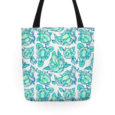 tote bag floral pattern floral penis pattern teal tote bag human