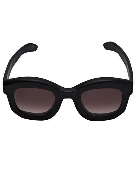 Thick Frame Sunglasses kuboraum thick frame sunglasses in black for lyst