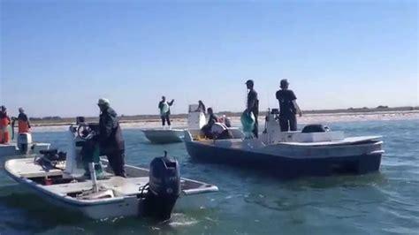 carolina skiff mullet boat mullet roe season hurricane pass 2014 youtube