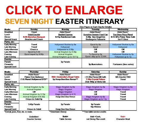Graphic Design Works From Home seven night walt disney world easter itinerary