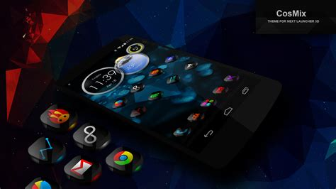 themes launcher for pc next launcher theme cosmix 3d android apps on google play