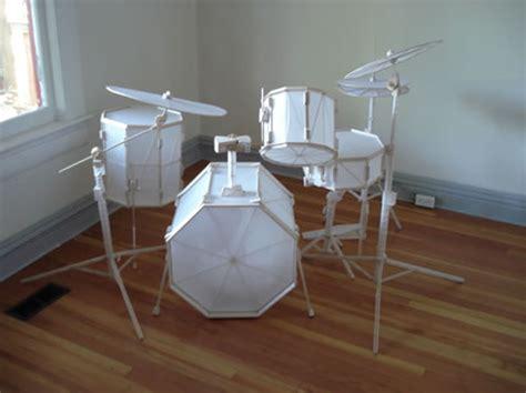 How To Make A Paper Drum Set - paper drum kit neatorama