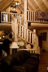 Log Cabin Homes with a Spiral Staircase