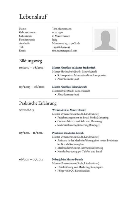 Lebenslauf Vorlage Word Mit Bild 31 Best Lebenslauf Vorlagen Muster Images On Education Templates And Career