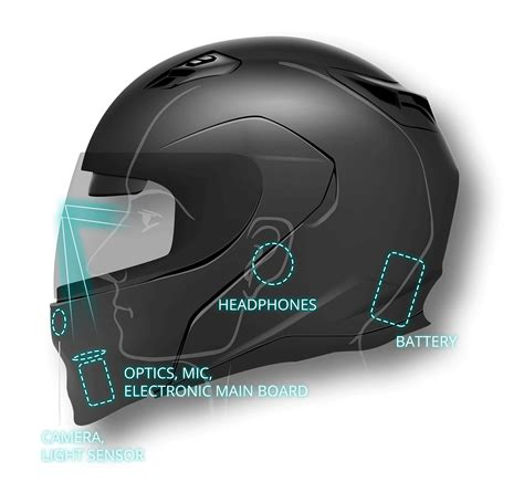 motorcycle helmet augmented reality livemap motorcycle smart helmet with augmented reality