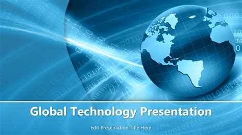 Global Powerpoint Template global technology powerpoint template powerpoint templates