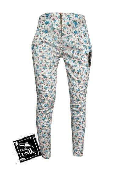 Celana Kulot Panjang Katun Murah B30417005mot3bru Bawahan Batik celana batik wanita panjang motif kembang rambat bawahan
