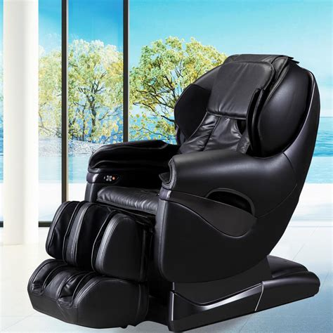 reclining massage chair titan pro series black faux leather reclining massage