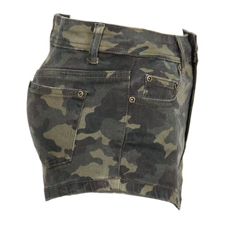 Hotpants Hotpant Army new womens khaki green high waist camo camouflage army