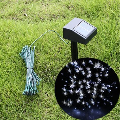 solar powered string lights amazon onsale agptek 194 174 55ft 100 led solar string fairy white