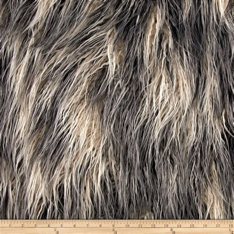 Faux Fur by Shannon Faux Fur Artic Mongolian Fur Ivory Grey Discount