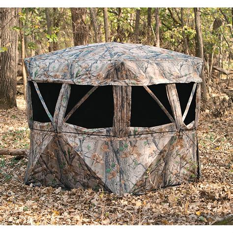 best ground blind vs360 6 5 x 6 5 5 hub ground blind 222733 ground blinds at sportsman s guide