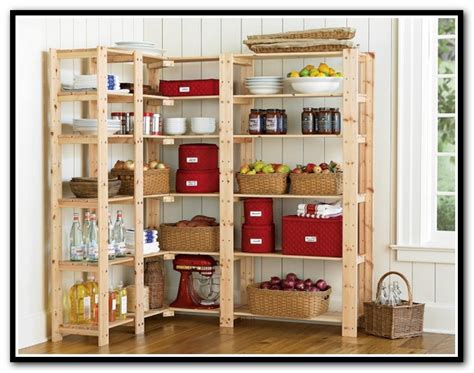 Wood Pantry Shelving Wood Shelving Systems For Pantry Home Design Ideas