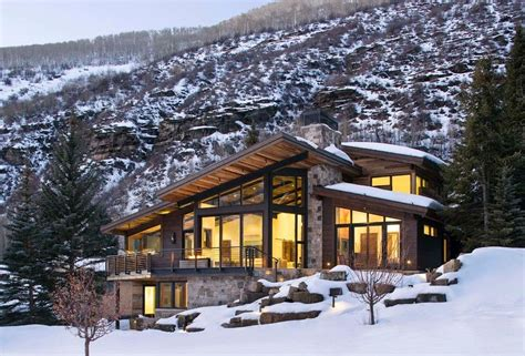Modern Mountain Home Plans by Luxury Mountain Homes Colorado Exterior Rustic With