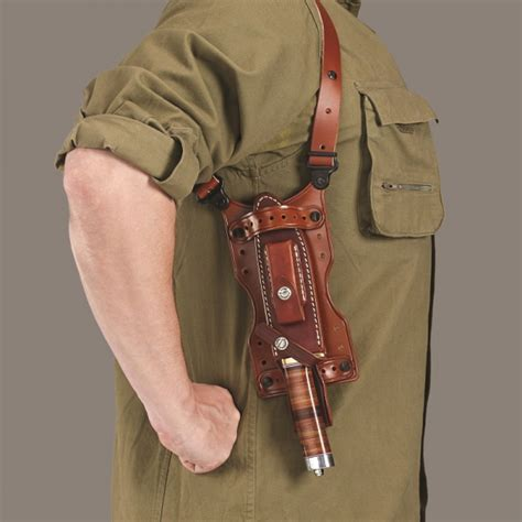 knife holsters shuka shoulder holster universal knife accessory galco