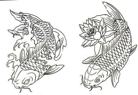 koi tattoo outline koi tattoo outline koi fish tattoo enjoy