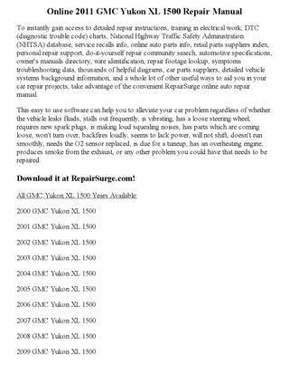 online auto repair manual 2011 gmc yukon xl 2500 engine control 2011 gmc yukon xl 1500 repair manual online by matthew issuu