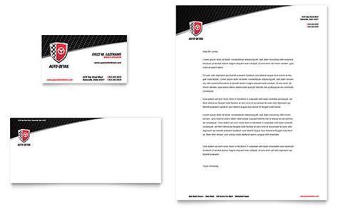 auto repair maintenance letterheads templates
