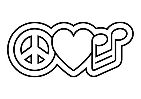 Peace Sign Color Pages Az Coloring Pages Peace Sign Coloring Page