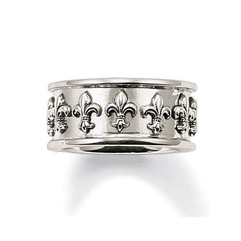 Guess Collection Lis Mata Gold sabo silver chunky fleur de lis ring jewellery from francis gaye jewellers uk