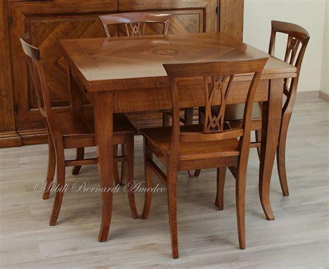 tavolo 100x100 allungabile tavoli in noce allungabili 1 tavoli