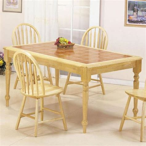tile dining room table acme furniture farmhouse rectangular leg dining table with