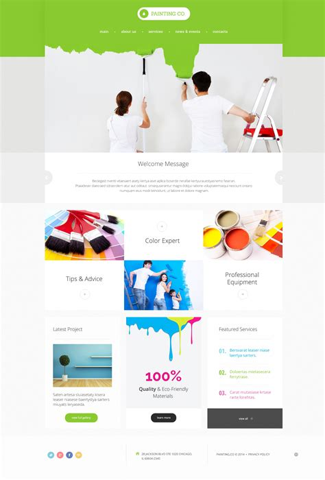 Painting Company Responsive Website Template 47931 House Painter Website Template