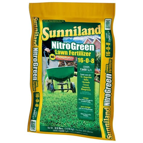 sunniland 33 lb lawn fertilizer 125158 the home depot