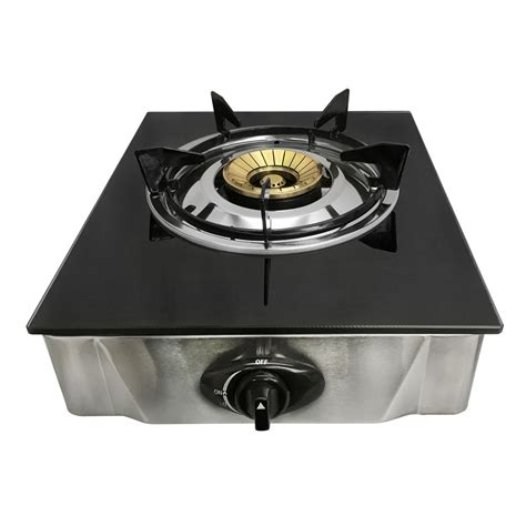 glass cooktop 12 quot x 14 quot single propane gas stove 1burner tempered glass