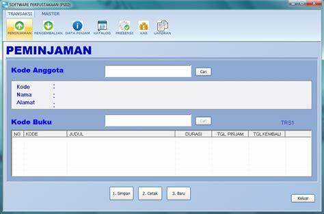 desain database aplikasi perpustakaan software perpustakaan download gratis registrasi full