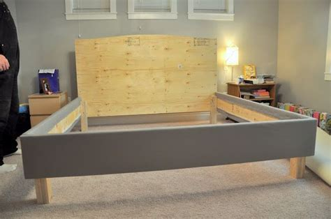 diy upholstered bed frame diy upholstered bed frame and headboard great pictures of