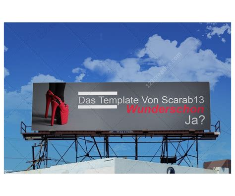 sky billboard mockups realistic billboard templates