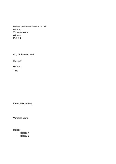 Brief Schweiz Aufbau gesch 228 ftsbrief vorlage schweiz word vorlage kostenlos
