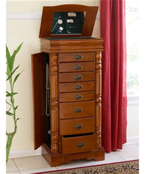 large oak jewelry armoire overstock shopping great