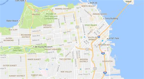 san francisco neighborhoods map with streets stop and move maps launches areas of interest
