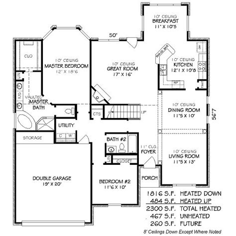2300 square foot house plans 2300 square feet 4 bedrooms 3 batrooms 2 parking space