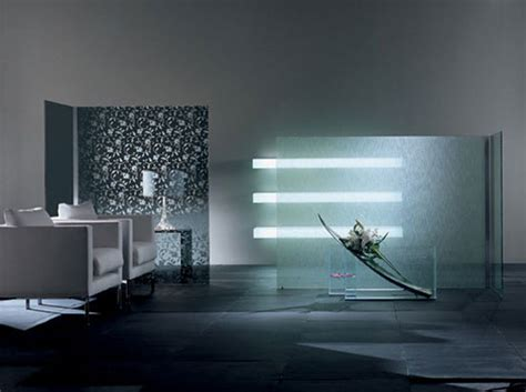 Glass Wall Room Divider Modern Decorative Room Divider Wall By Glass Italia Digsdigs