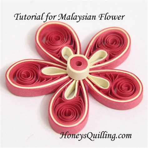 quilling tutorial on pinterest paper quilling tutorial how to make malaysian flowers