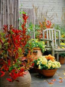 Red green yellow diy welcome the fall with warm and cozy patio