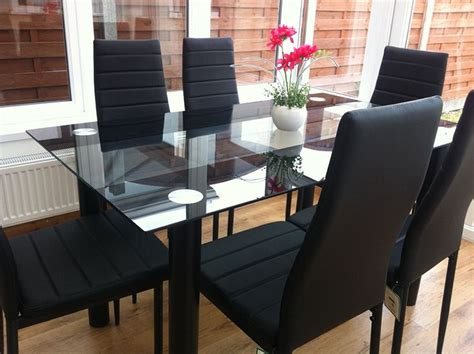 black glass dining table set 25 best ideas about glass top dining table on