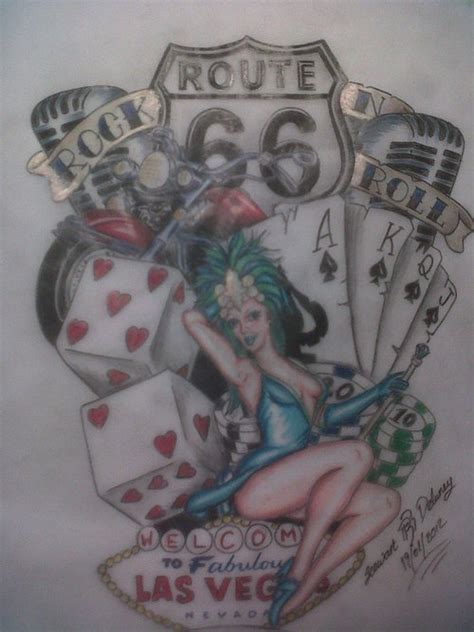 vegas tattoo designs viva las vegas custom design picture at