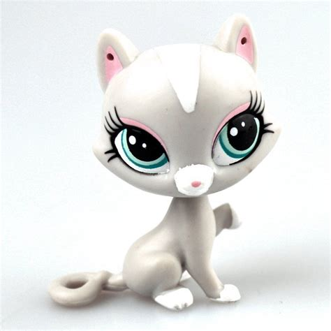 lps cats and dogs hasbro littlest pet shop collection lps figure animals gray cat pet